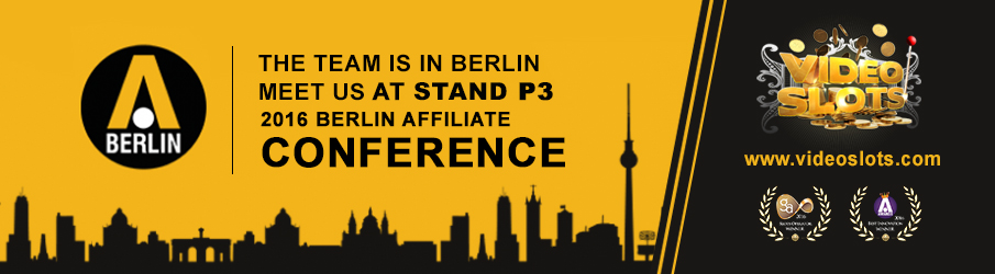 Videoslots.com visits BAC 2016 in Berlin – Meet us at STAND P3