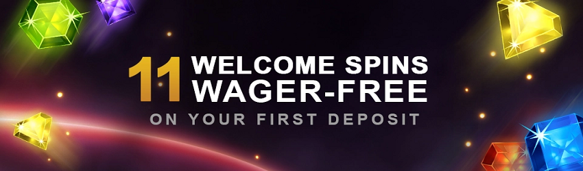 The 11 Welcome Spins now offered at first deposit!