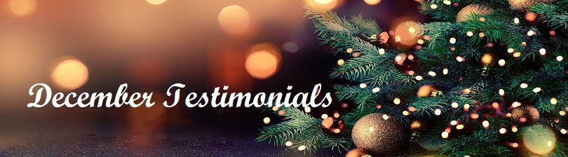 December Testimonials - let´s see the last of this years testimonials!